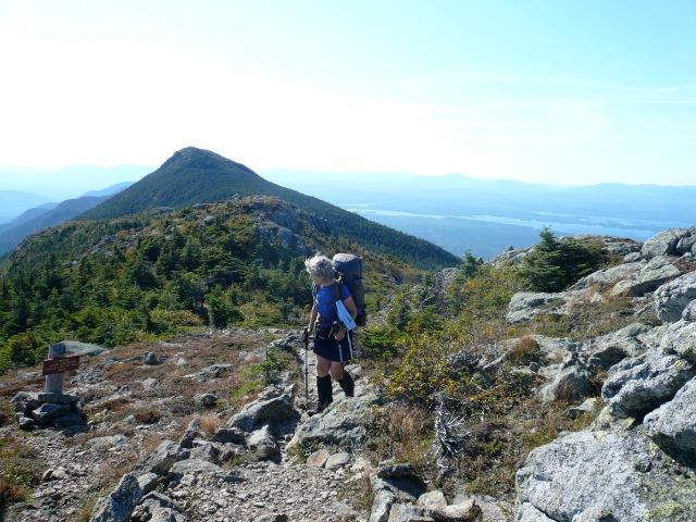 Mame approaching Avery Peak