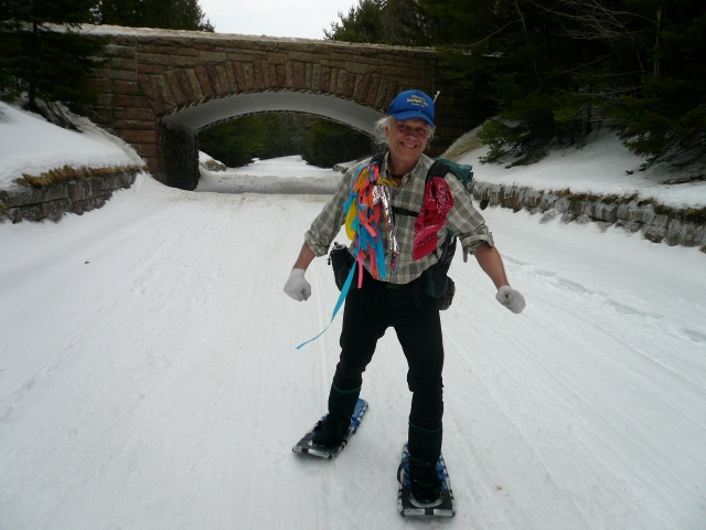 Uncle Tom on the Snowshoes