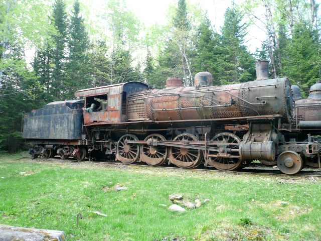 Sixty foot long steam locomotive