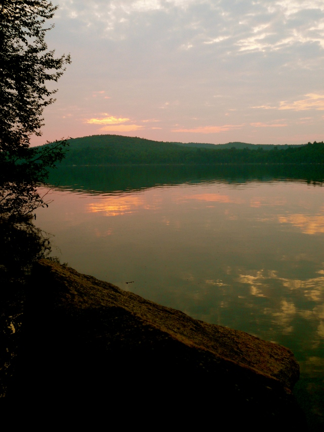 Sunset over Rainbow Lake