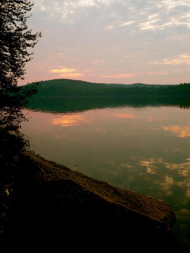 Sunset over Rainbow Lake
