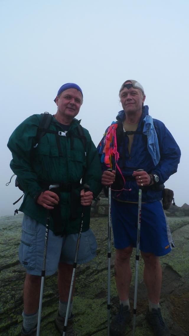 Roy and Tom on Franconia Ridge