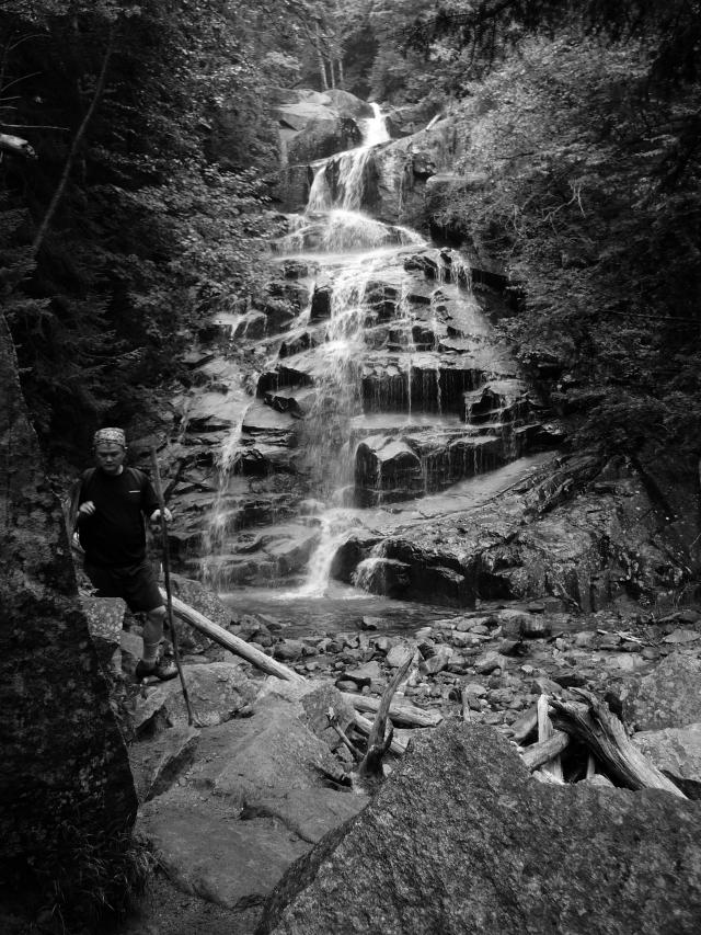 Jimmy descending Falling Waters Trail