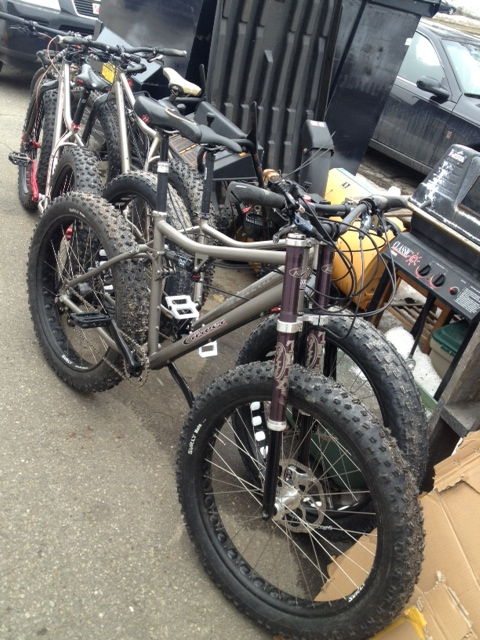 The Carver fat tire demo fleet