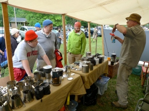 Don pitching to the hikers at Trail Days 2011