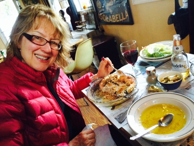 Auntie Mame, salmon, and swordfish
