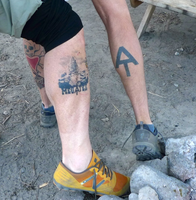 Uncle Tom and Breeze sporting their Appalachian Trail tattoos