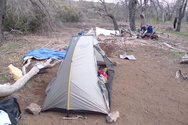 My campsite and tent- NIght #2 PCT