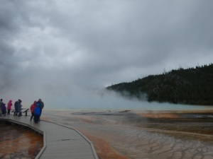 Grand Prismatic Spring today