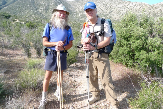 Billy Goat and me on the PCT in Southern California in 2010