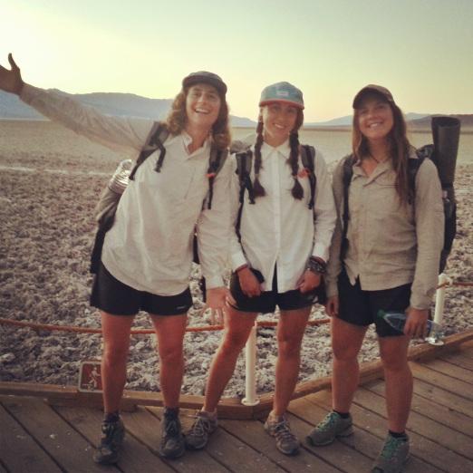 Three chicks in a desert- Carrot Quinn photo