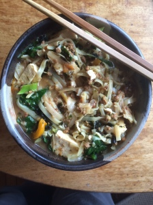 Today's spinach/ tofu pho
