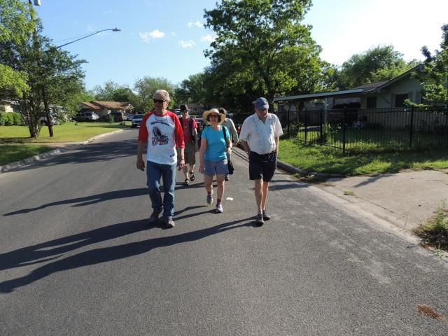 On our seven mile round trip walk to breakfast in Austin, Texas