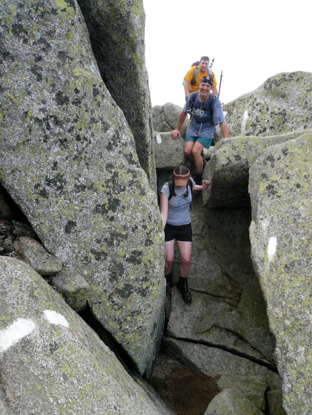 Birdlegs, Bad Influence, and Quarter Moon in Hunt's  boulder field (2013)