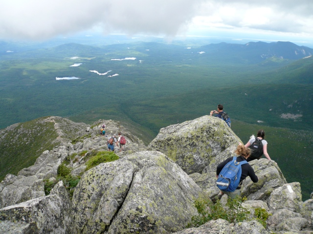 Descending Katahdin via the AT