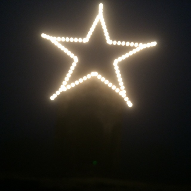 Star atop Mt. Battie tower