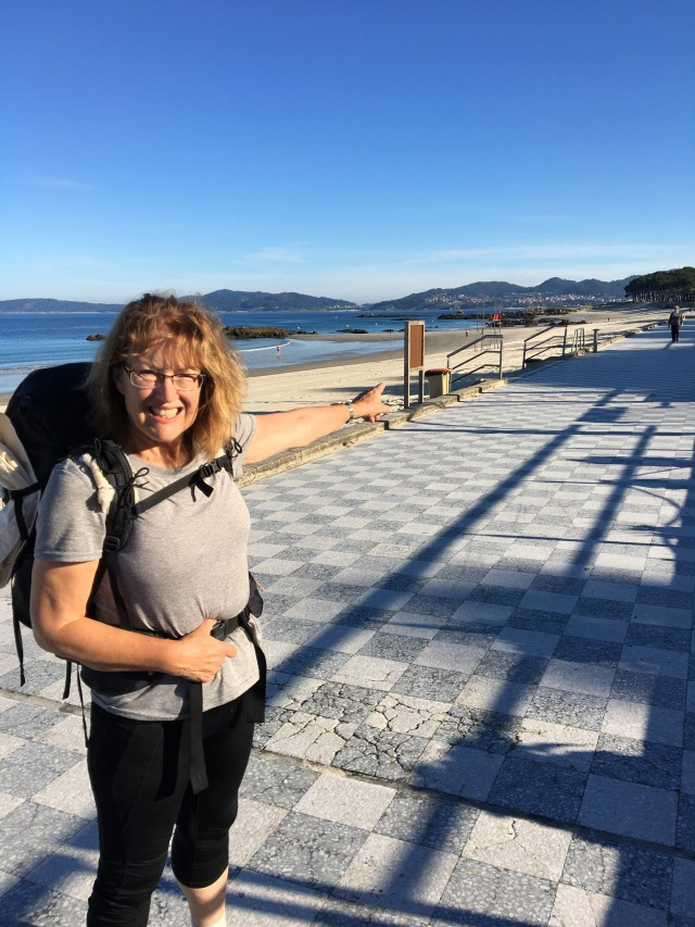 Marcia, showing me the the way, in Portugal