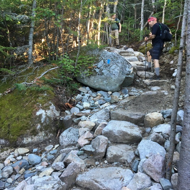 New stone stairs on reroute
