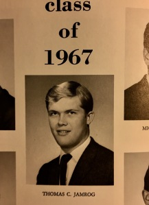 High School Yearbook graduation photo - 1967