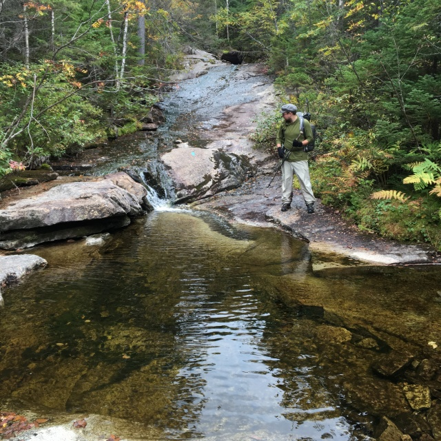 Crossing Wassataquoik Stream